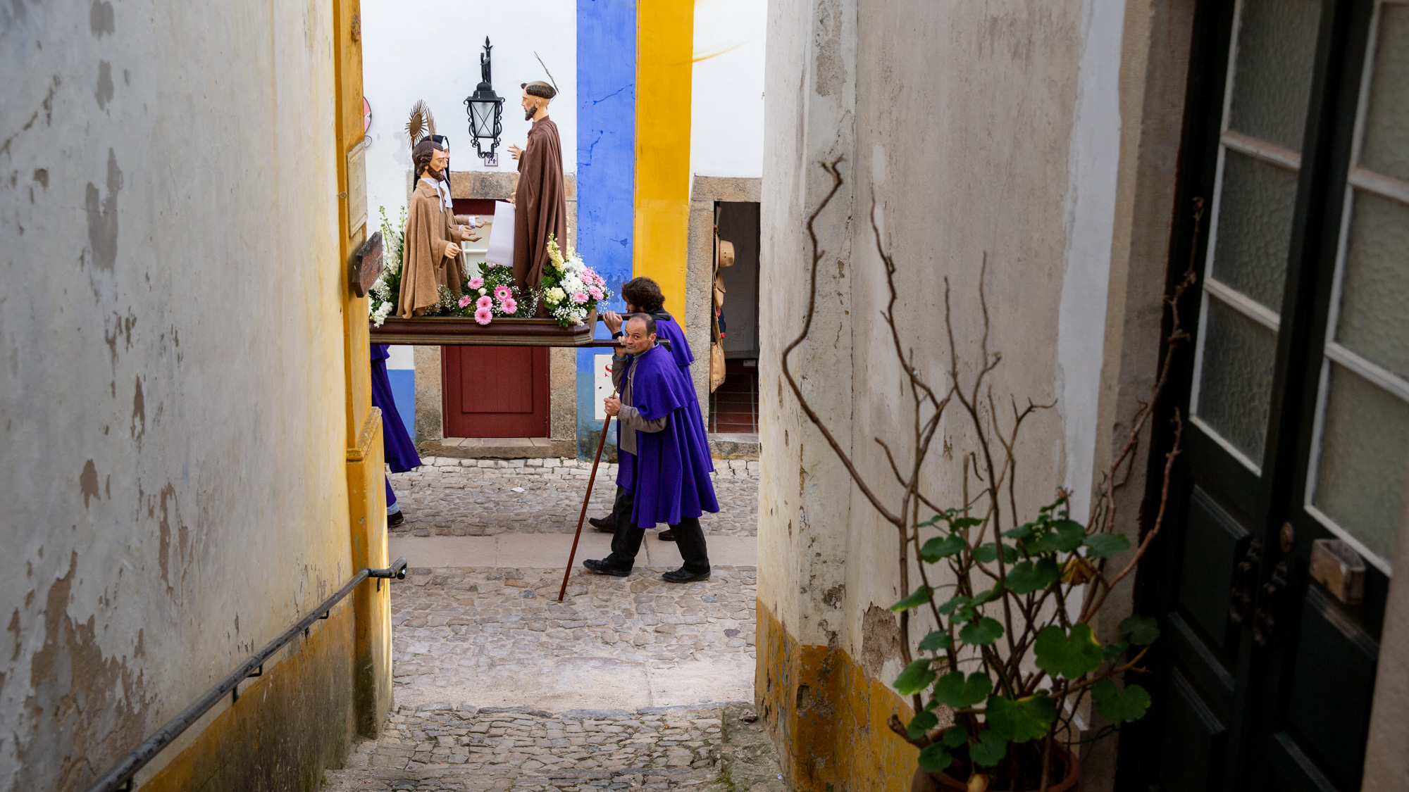 processie Obidos
